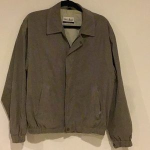 Joesph A Bank Casual Green Zip Front Jacket  M